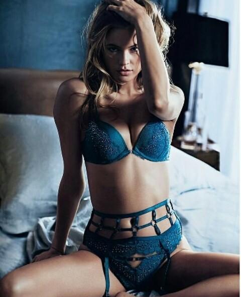 model, Behati Prinsloo, and lingerie image