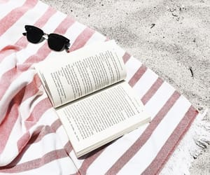 beach, sand, and book image