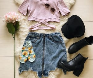 fashio, outfit, and spring image