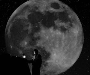 black, moon, and wallpaper image