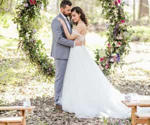 bride, circle, and garden image