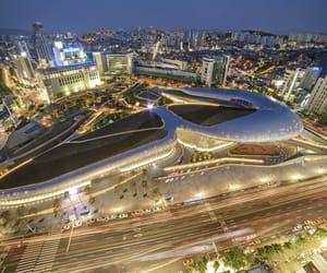 korea, lights, and night image