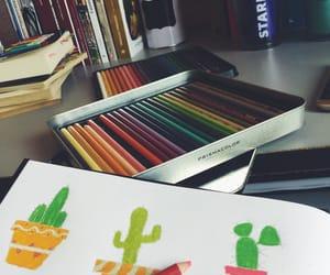 art, books, and cacti image