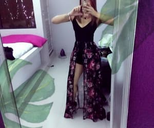 blackdress, girl, and mirror image