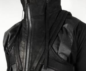 black, coat, and fashion image