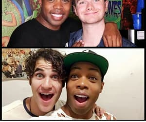 darren criss, chris colfer, and criss colfer image