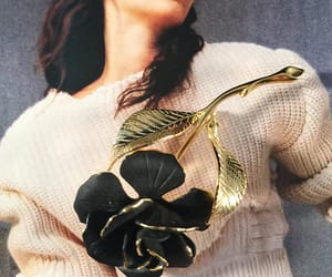 black gold, eco friendly, and flower brooch image