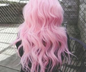 hairs and pink image