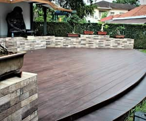 eco-friendly, composite decking, and wood image