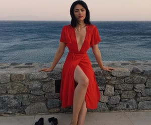 red dress, style, and kristina bazan image