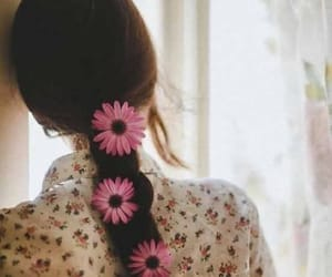 flower, flowers, and girl image