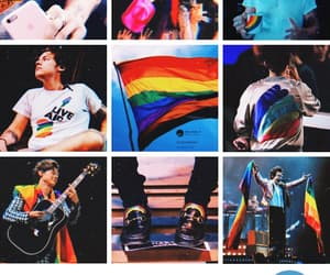 gay pride, rainbow, and styles image