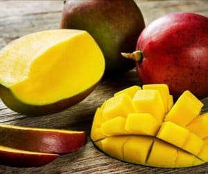 fruit, red, and yellow image