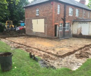 digger hire chester, excavator hire wirral, and excavator hire chester image