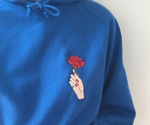 blue, rose, and hoodie image