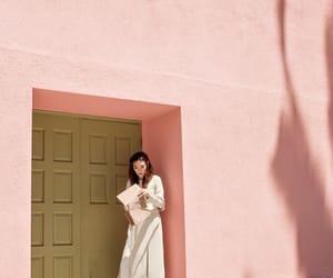 pink, girl, and wall image