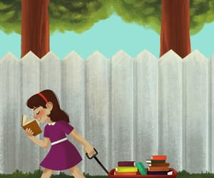art, matilda, and book image