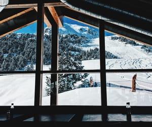 fun, snowboarding, and restaurant image