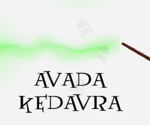 avada kedavra, harry potter, and magic image