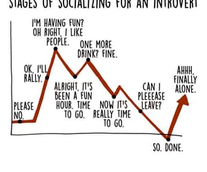 graph, introvert, and life image