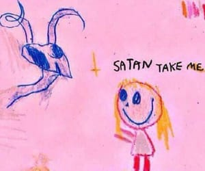 horror, pink, and satan image