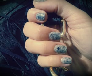 manicure, nails, and gray nails image