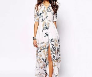 bohemian, dress, and maxi dress image