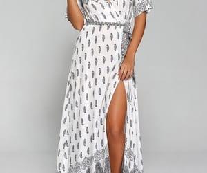 bohemian, chic, and maxi dress image