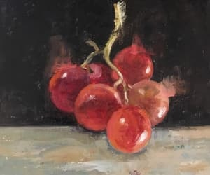 art, fruit, and red image