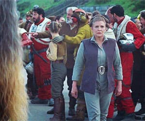 carrie fisher, gif, and star wars image