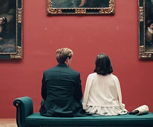 art, couple, and grantchester image
