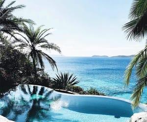 summer, pool, and sea image