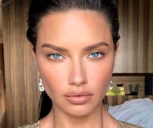 Adriana Lima, makeup, and glam image