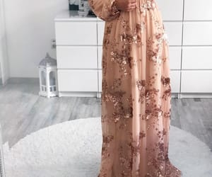 dress, long dress, and party look image