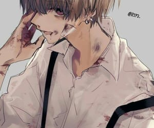 anime, blond, and cool image