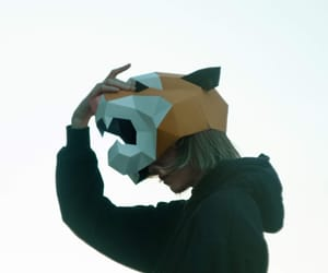 art, mask, and origami image