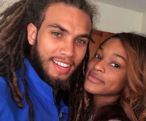 couples, dreads, and black love image
