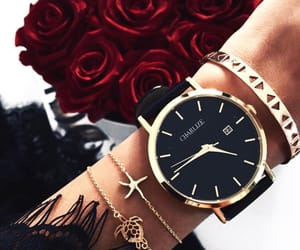 rose, watch, and bracelet image