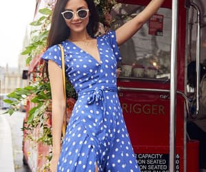 blue, victoria justice, and dots image