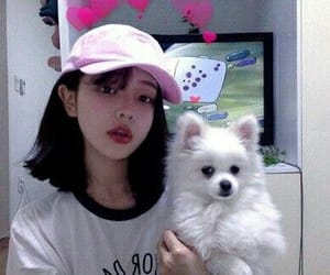 ulzzang, korean, and dog image