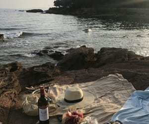 beach, aesthetic, and picnic image