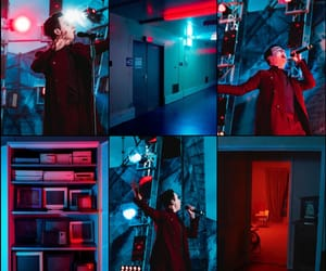 aesthetic, melovin, and blue and red image