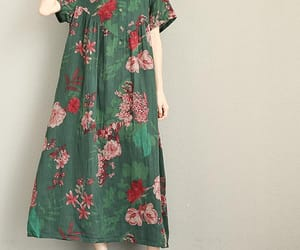 etsy, flower dress, and green dress image