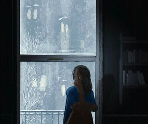 girl, alone, and cold image