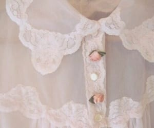 rose, pink, and lace image