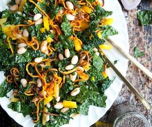 recipe, salad, and vegetarian image