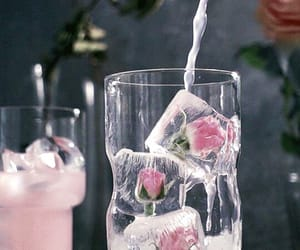 gif, ice, and rose image