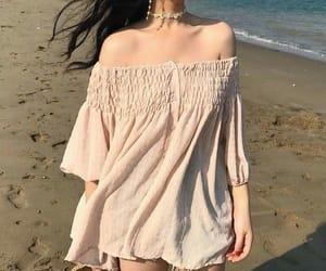 fashion, beach, and dress image