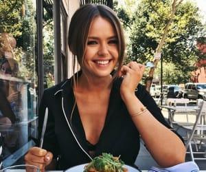girl, food, and smile image