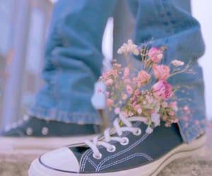 flowers, pentagon, and shine image